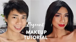 How I Do My Pageant Makeup : Fun and easy tutorial | Boy to Girl Transformation |  Vlog #36