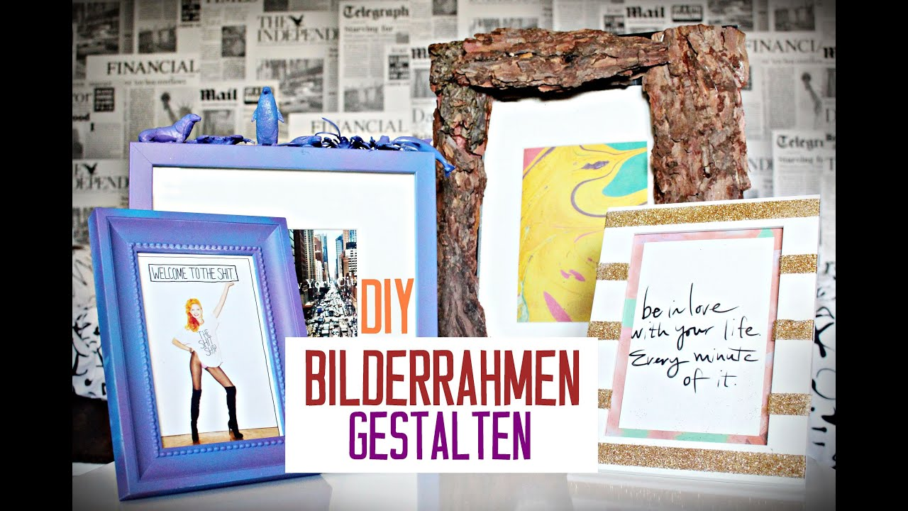 bilderrahmen einfach schnell g nstig kreativ versch nern gestalten diy youtube. Black Bedroom Furniture Sets. Home Design Ideas