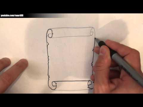 Como dibujar un pergamino antiguo