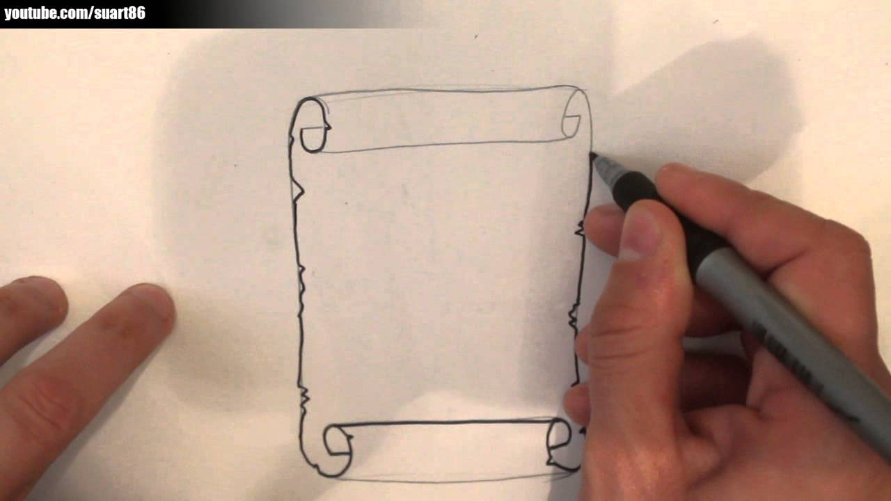 Como dibujar un pergamino antiguo youtube - Papel para dibujar ...