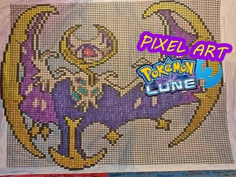 Pixel Art Dessiner Lunala Pokemon Lune Moon How To Draw
