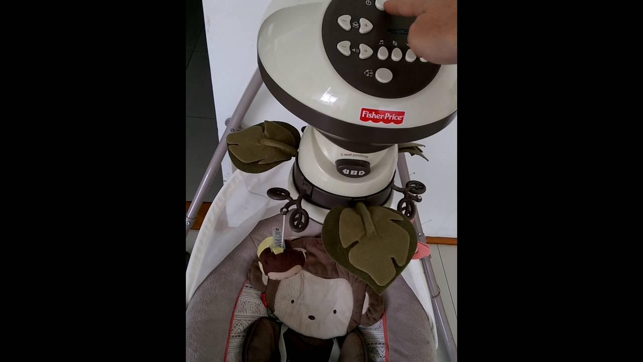 6717de874 Columpio mecedora eléctrico 3 posiciones fisher Price. - YouTube