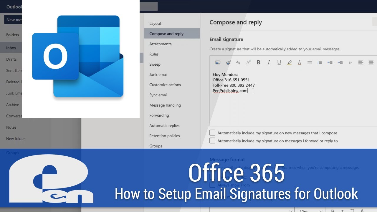 How to Setup Email Signatures for the Outlook Web App and Outlook Desktop -  Office 365