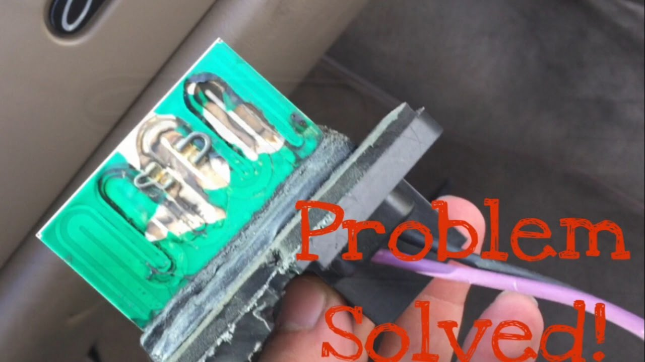 how to fix your a/c - blower motor resister (buick century 2002)