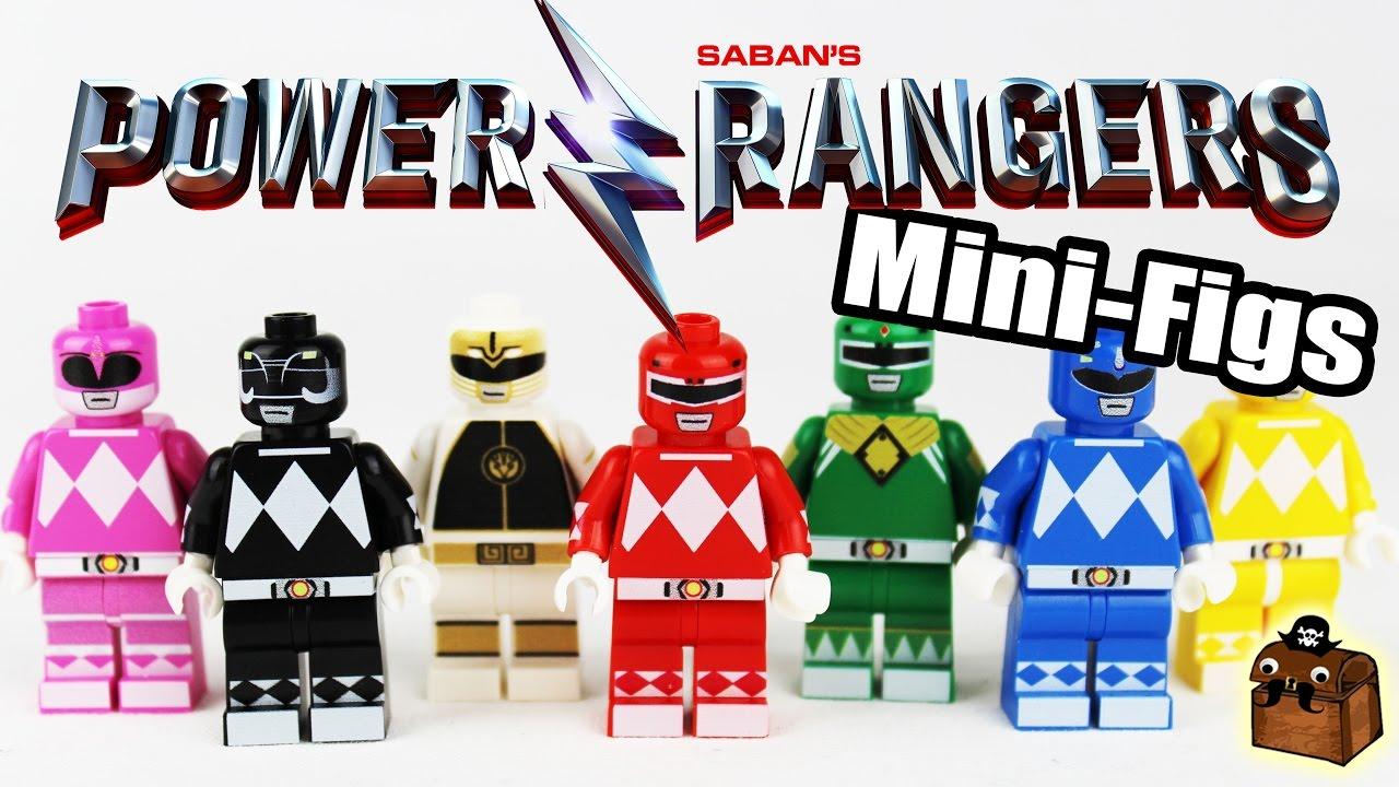 Power Rangers Movie Custom LEGO Minifigures 2017 - YouTube