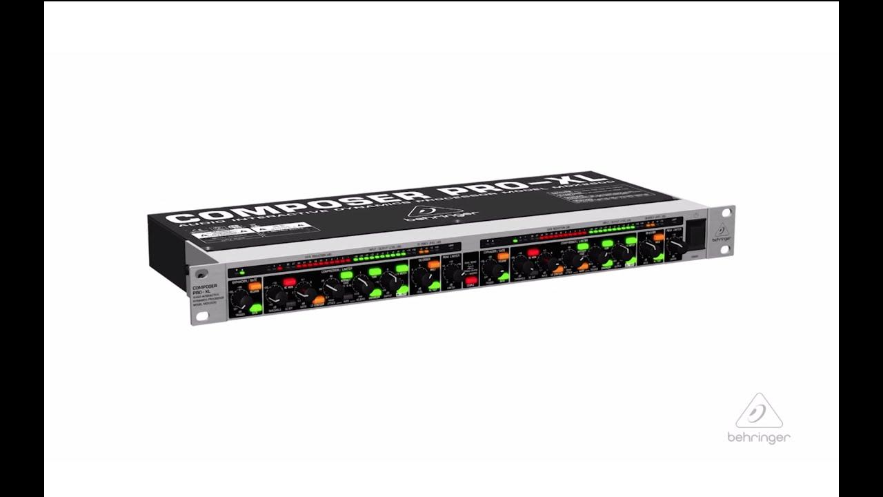 COMPOSER PRO-XL MDX2600 2-Channel Expander/Gate/ Compressor/Peak ...