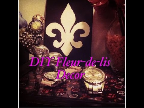 diy fleur de lis decor youtube. Black Bedroom Furniture Sets. Home Design Ideas