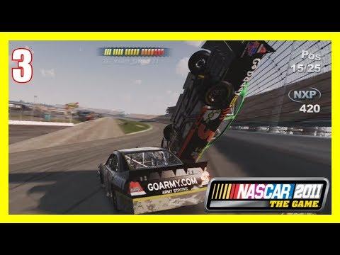 (Never Wreck Mark Martin) NASCAR 2011 The Game Career Mode (Xbox 360) Part #3