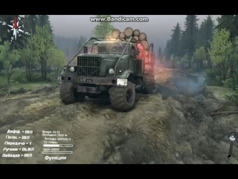 SpinTires Passage Coast Towing Urals broken ZIL-131