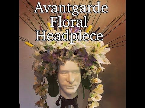 Avant-garde floral headpiece/ diy floral crown