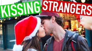 GUY vs GIRL Mistletoe Kissing Challenge!