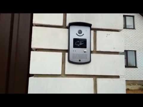 Обзор и установка видео домофона с электрозамком на входе