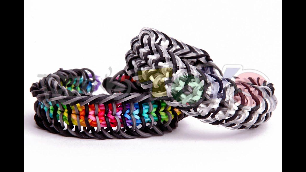 inverse cage rainbow loom bracelet tutorial loom bands