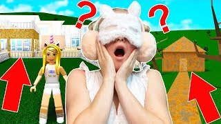 I Bought A House In Bloxburg BLINDFOLDED - WORST IDEA EVER! (Roblox)