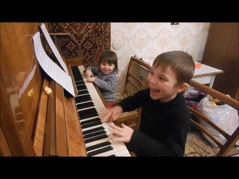 Дуэт. Никита 6 лет и Таня 2 года