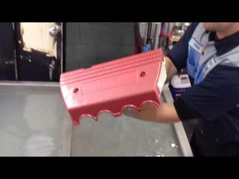 Honda Civic Valve Cover Hydro Dipped in Silver Carbon Fiber