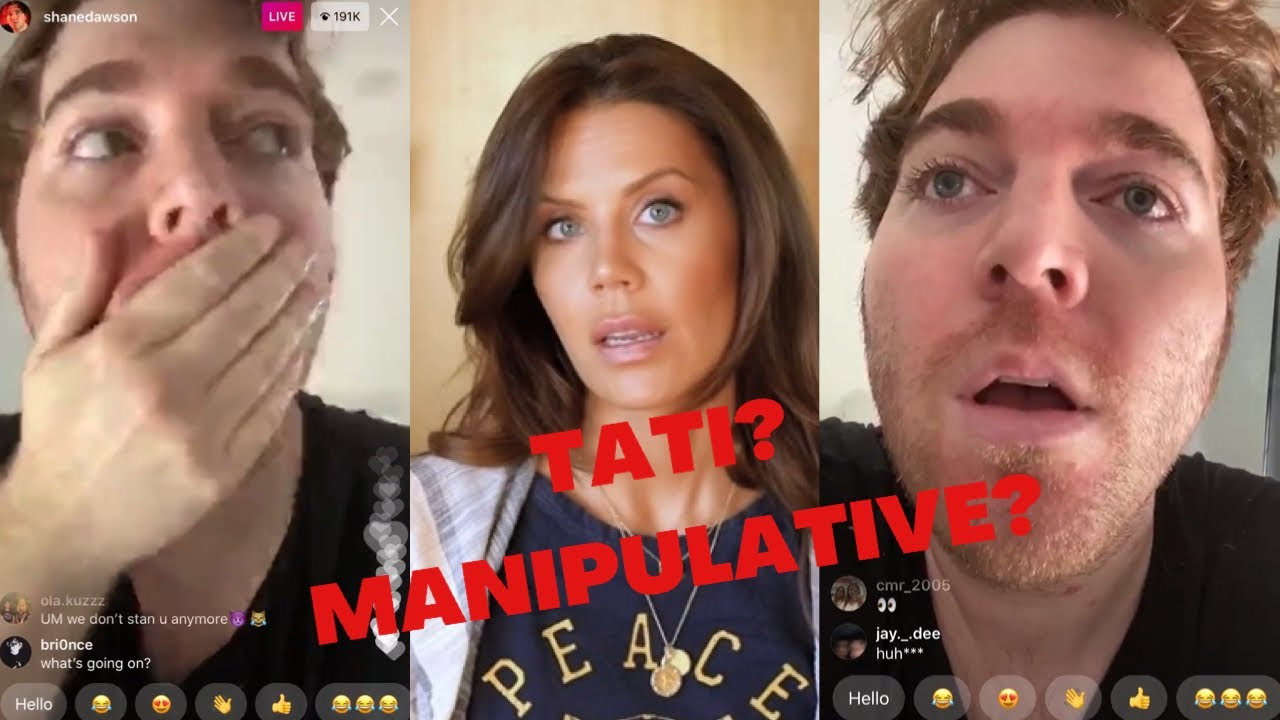 Download SHANE DAWSON INSTAGRAM LIVE about TATI'S  NEW VIDEO!