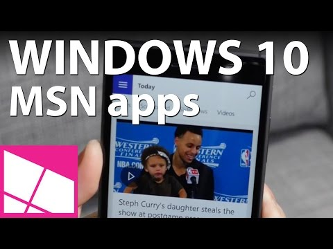 MSN Apps On Windows 10 Mobile