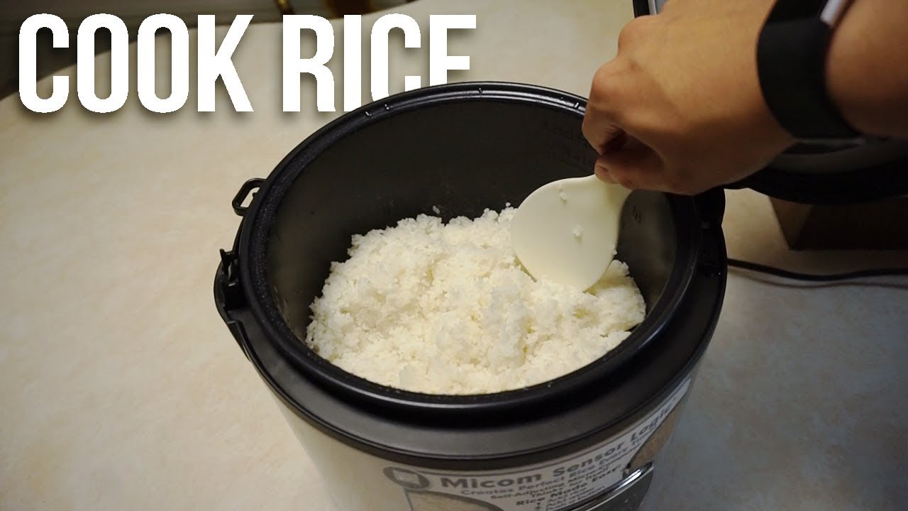 how to cook rice in a rice cooker with