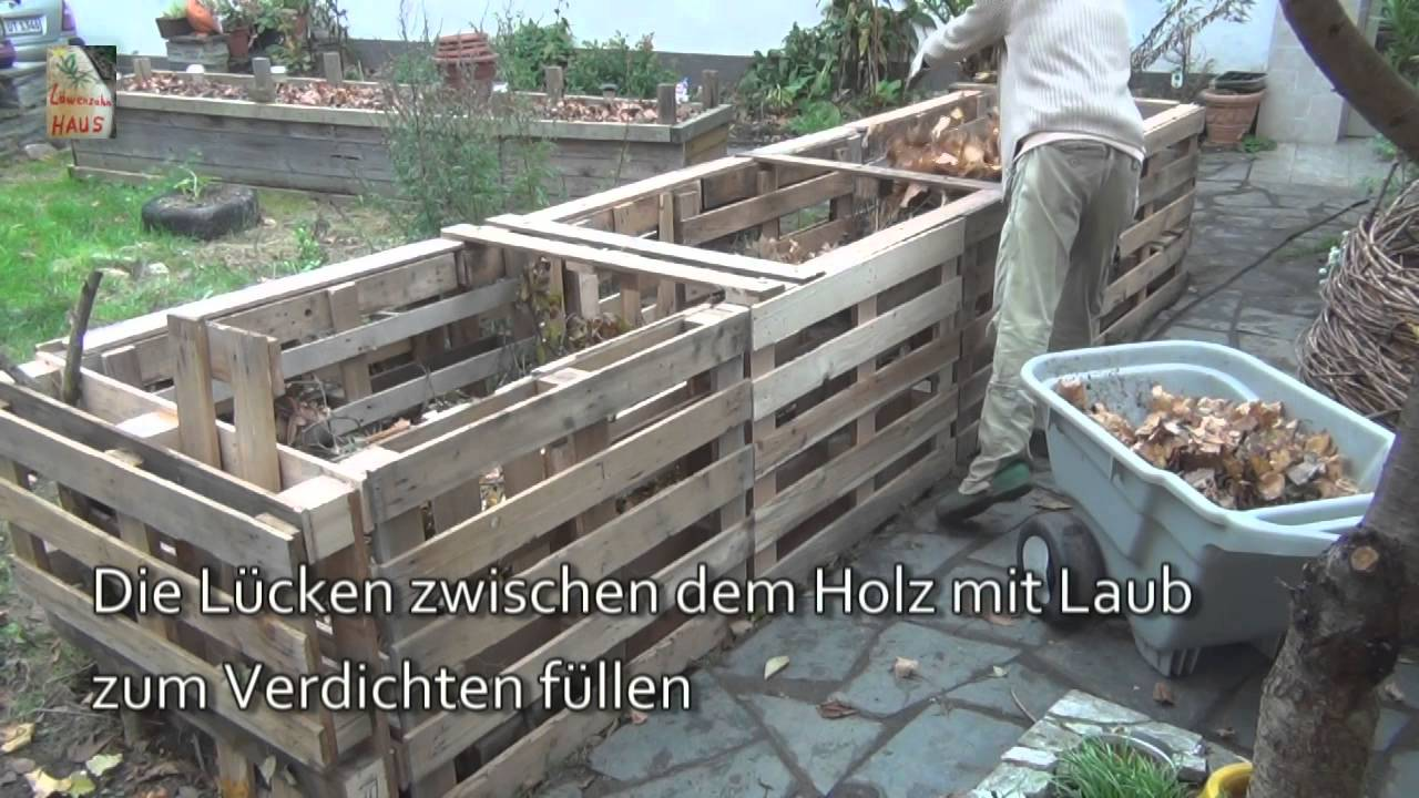 das 5qm europaletten hochbeet how-to - youtube