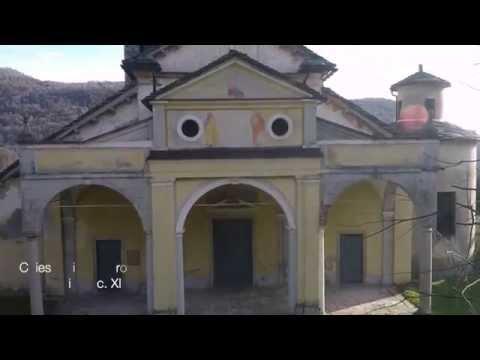 Chiesa di S. Pietro, torre campanaria (sec XI) Brovello Carpugnino, Piemonte, Italy