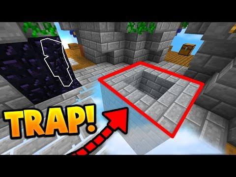 OBSIDIAN CAMO TROLLING TRAP! (Minecraft SKY WARS CAMO TROLLING) - Видео из Майнкрафт (Minecraft)