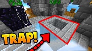 OBSIDIAN CAMO TROLLING TRAP! (Minecraft SKY WARS CAMO TROLLING)