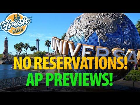 Universal Studios Confirms NO RESERVATIONS And AP Previews | 2020-05-22