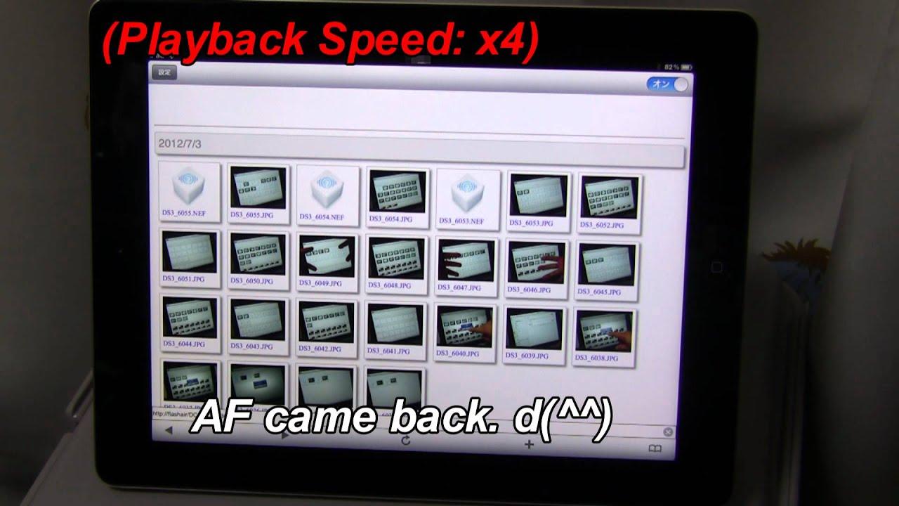 FlashAir and iPad with APP