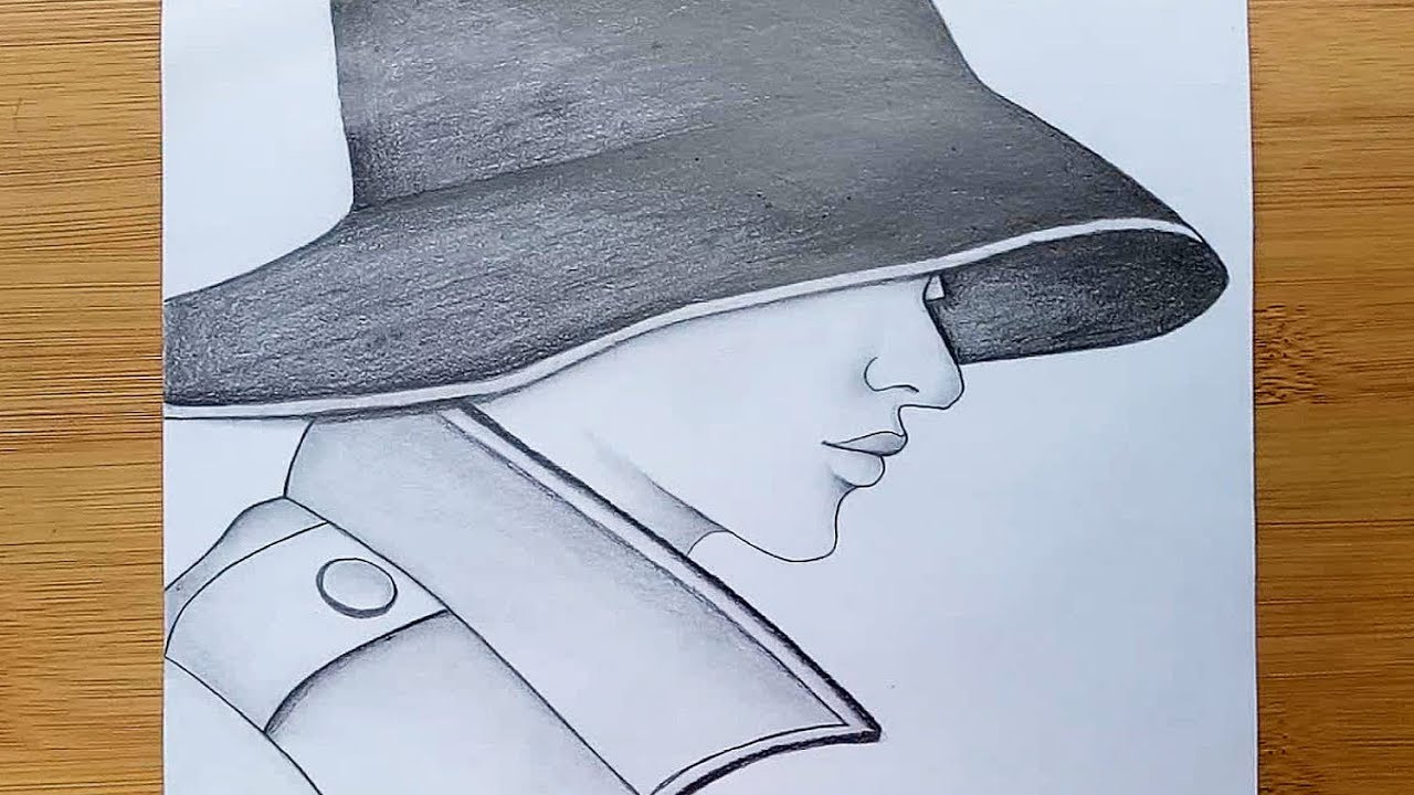 How To Draw A Boy With Cap For Beginners Pencil Sketch Drawing Youtube
