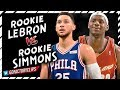 Rookie Ben Simmons vs Rookie LeBron James CRAZY Offense Highlights - Future Teammates?