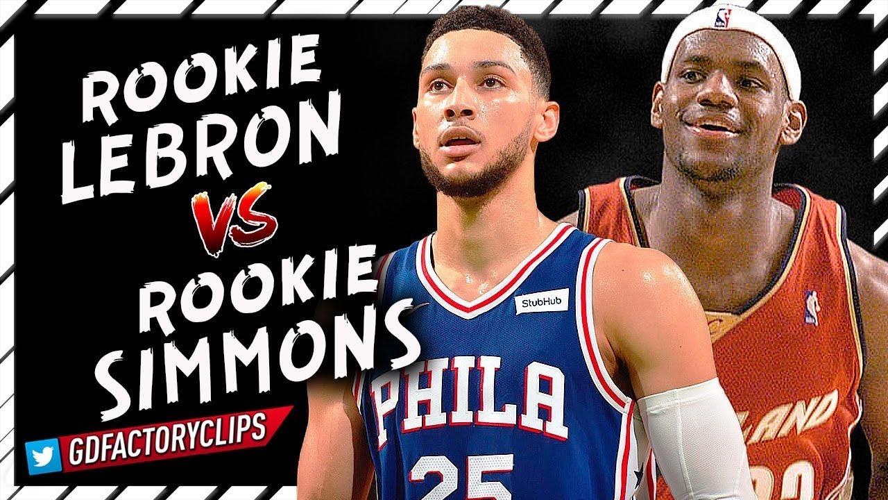 d9712d50e4fd Rookie Ben Simmons vs Rookie LeBron James CRAZY Offense Highlights - Future  Teammates