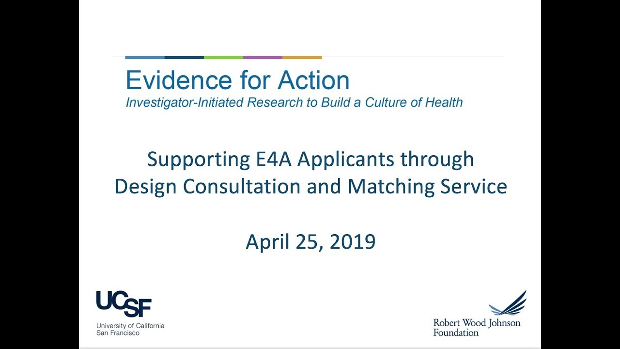 For Applicants | Evidence for Action