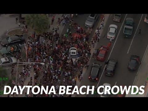 Video From Daytona Beach Show Large Crowds During Coronavirus Pandemic