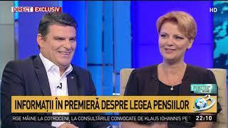 Lia Olguța Vasilescu: Pensiile din grupele I și II, majorate
