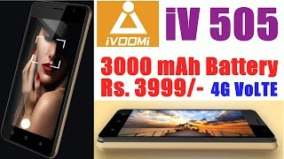 ivoomi iv505 a budget smartphone with 3000 mah battery