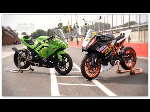 Review'd with Kawasaki 300 Ninja vs KTM 390 (Sponsored By KNOX)