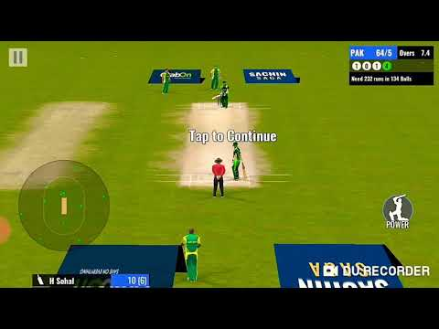 Pakistan Vs South Africa In The Sachin Saga Cricket Champion Game To Play In Android