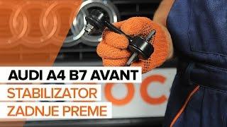 Menjava zadaj desni Šipka stabilizatorja AUDI A4 Avant (8ED, B7) - video navodila