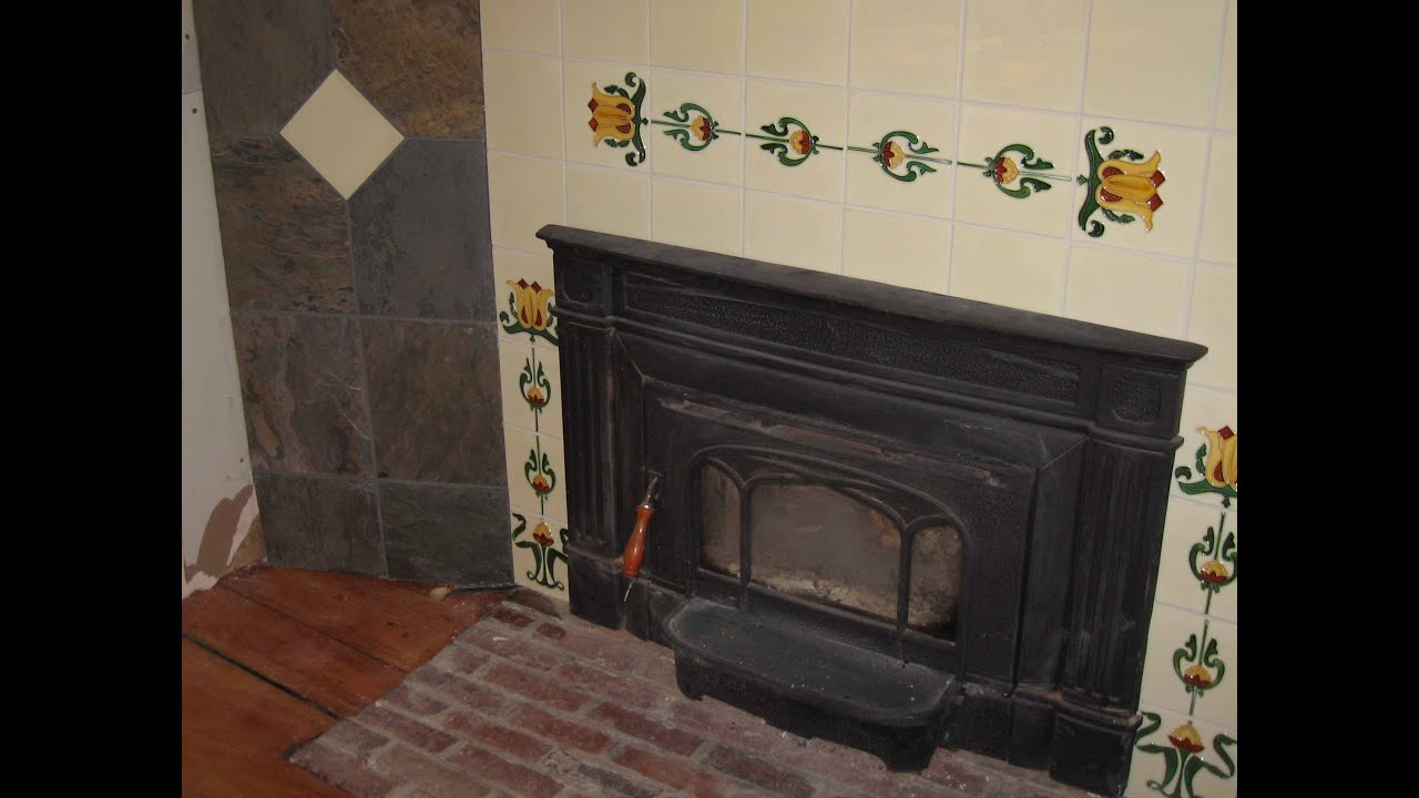 gas fireplace tile surround youtube