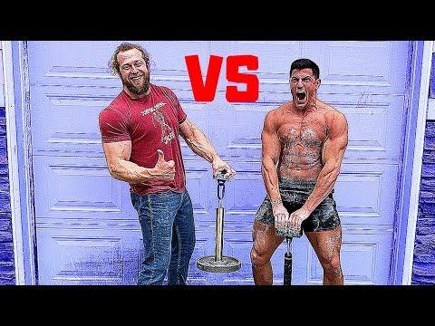 PAINFUL GRIP STRENGTH GAUNTLET VS JUJIMUFU | Bodybuilder VS Bodybuilder Grip Challenge