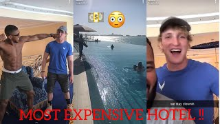 LOGAN Paul Challenges Fighter Anthony JOSHUA In DUBAI ! MOST Expensive Hotel