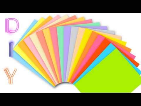 Making Beautiful Flowers With Colour Papers And Kundhans | DIY Paper Crafts | Uppunuti Home