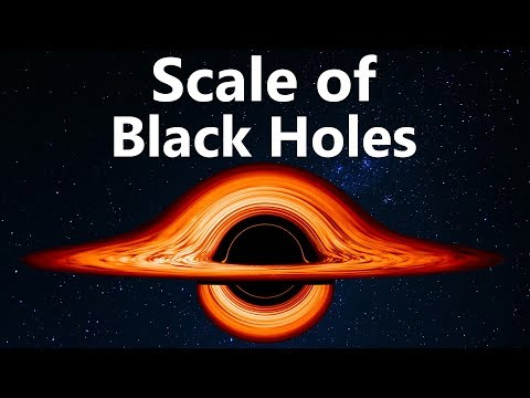 The Unbelievable Scale of Black Holes Visualized