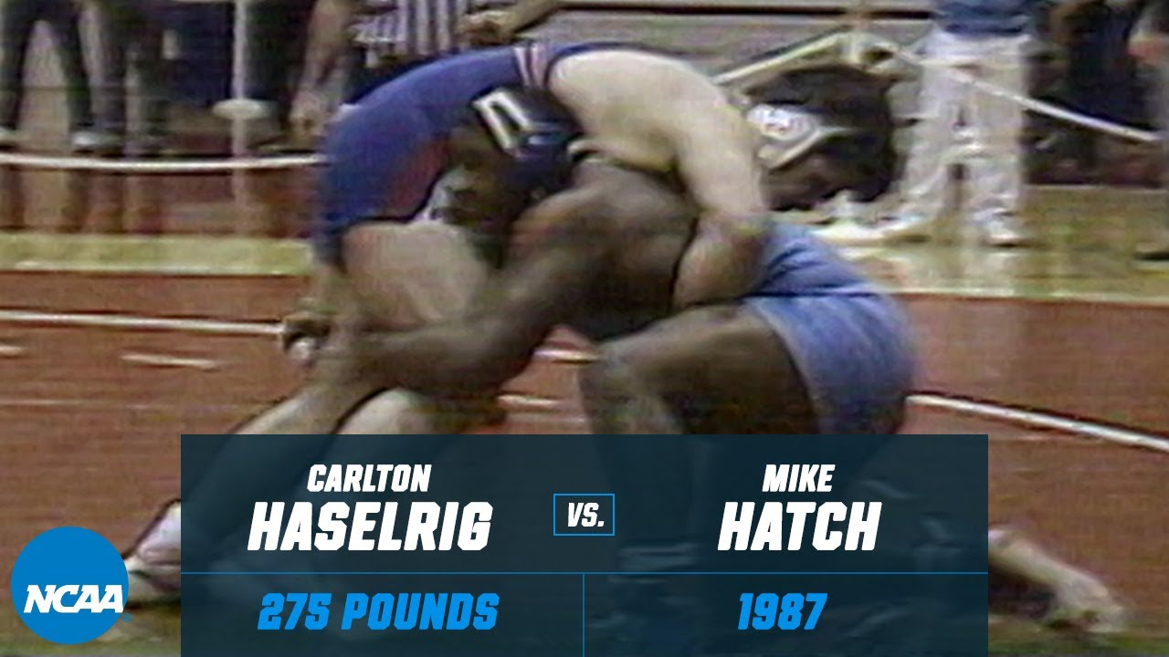 Carlton Haselrig vs. Mike Hatch: 1987 NCAA title match (275 lbs.)