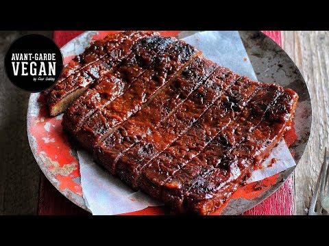 STICKY BBQ 'RIBS' VEGAN  | @avantgardevegan by Gaz Oakley