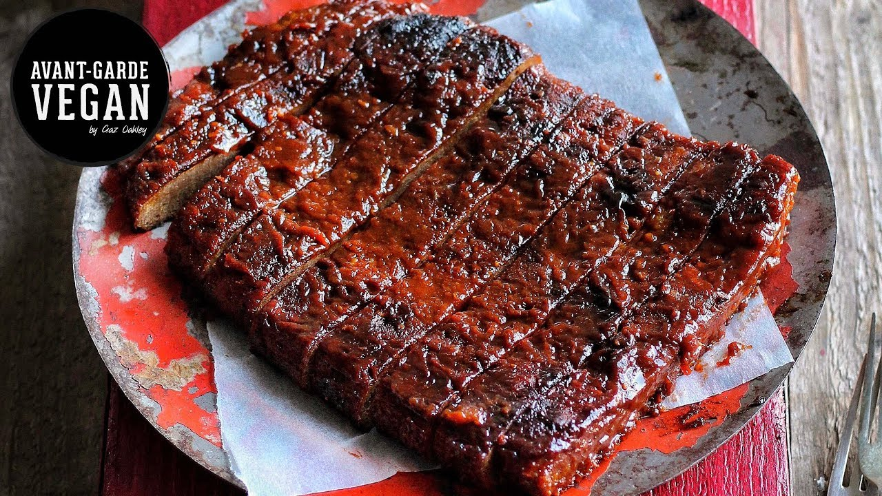 STICKY BBQ 'RIBS' VEGAN