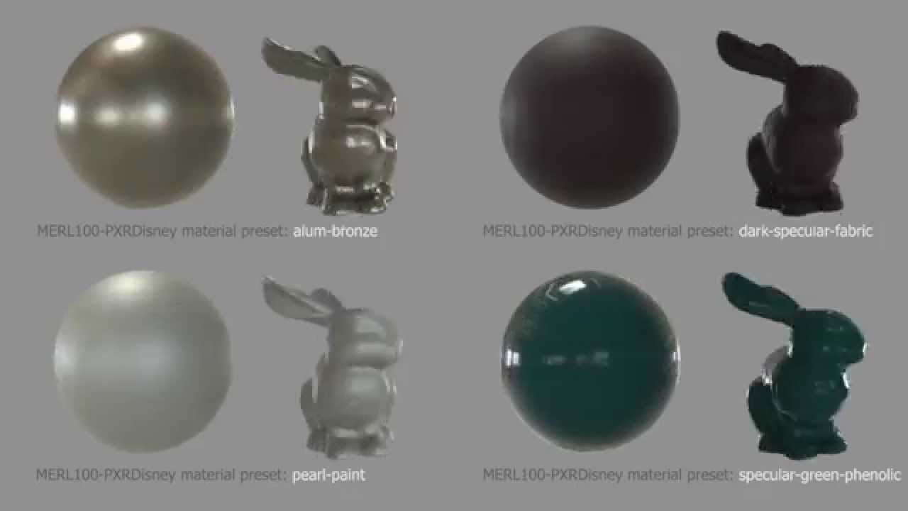 OTOY Forums • View topic - MERL BRDF Database