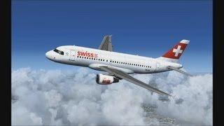 FSX HD Swiss A319 Zurich to Venice
