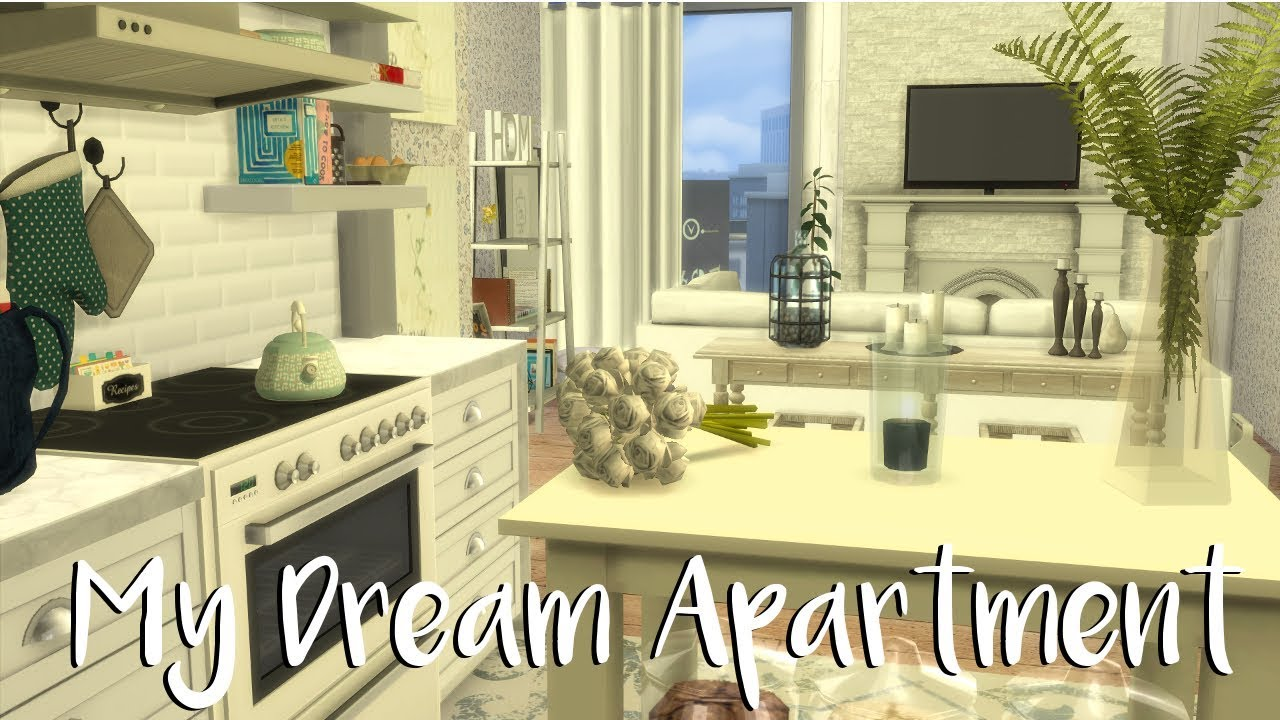 The Sims 4: Speed Build  MY DREAM APARTMENT + CC LIST